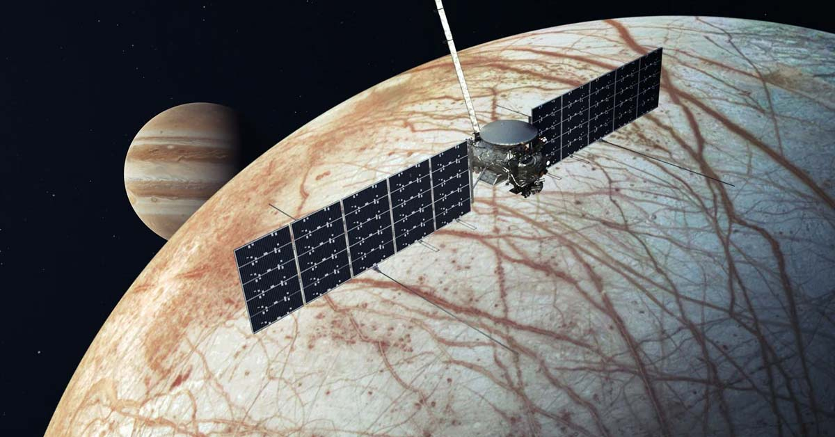 Evidence of Hidden Volcanoes Inside Europa could be a Sign of Life